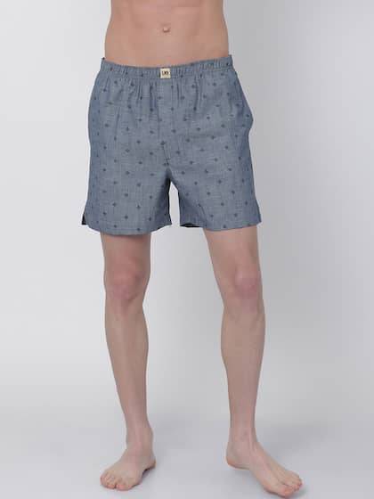 Urban Dog Men Grey Printed Boxers UDBX133
