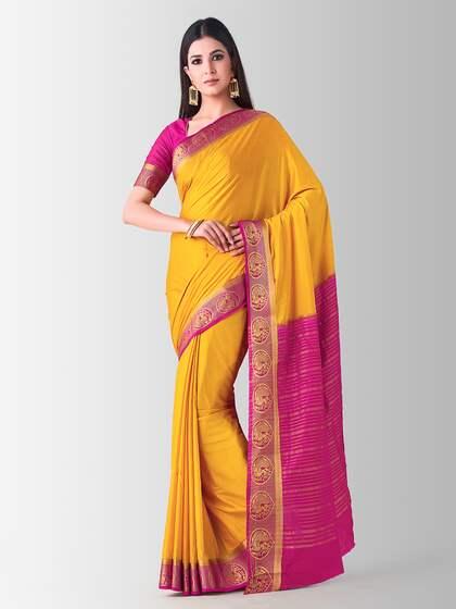 fc81112acb Mysore Silk Saree - Buy Mysore Silk Sarees Online @ Best Price   Myntra