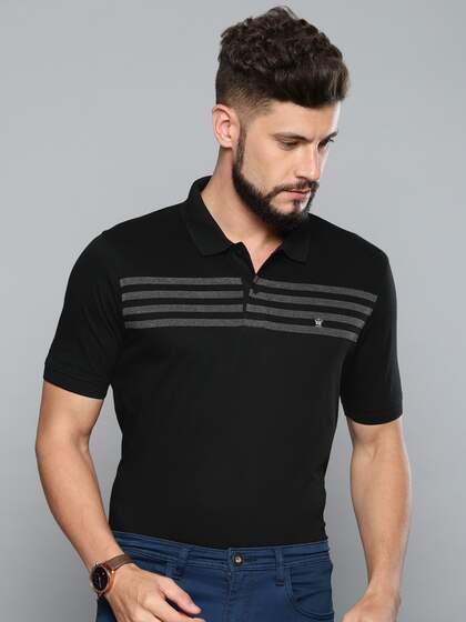 83fdf7c9f Louis Philippe. Striped Polo Collar T-shirt