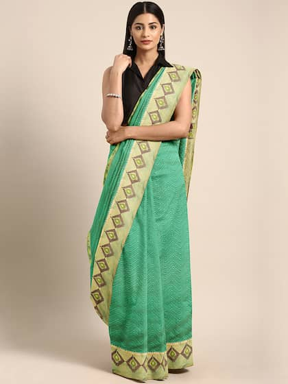 0ae9561db87 Green Saree - Buy Green Color Sarees Online