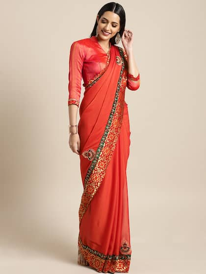 2b1cf217099545 Designer Sarees - Buy Latest Designer Saree Online | Myntra