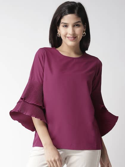 0e630cb930ca04 Purple Tops - Buy Purple Tops Online in India