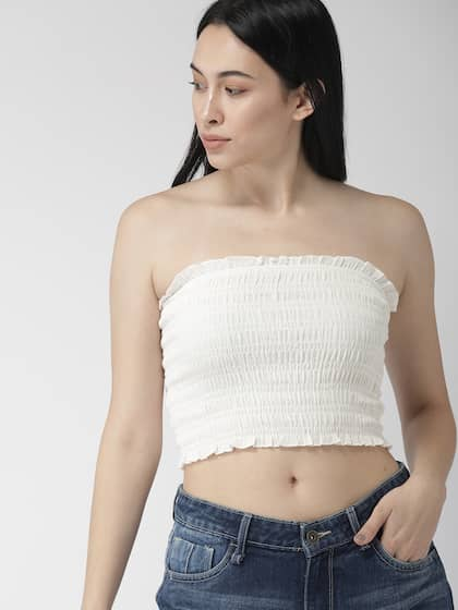 dbe86b1ba68089 Crop Tops - Buy Midriff Crop Tops Online for Women in India