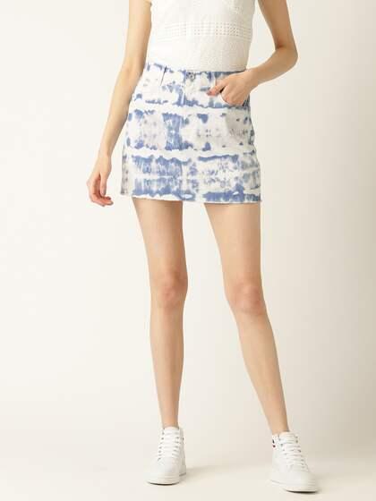 8567685c23 Denim Skirts - Buy Denim Skirts for Women Online | Myntra