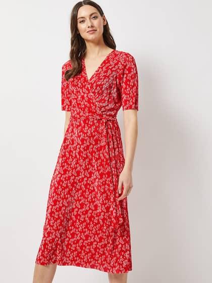1272a2798b05c Midi Dresses - Buy Midi Dress for Women & Girl Online | Myntra
