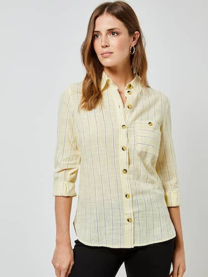 87ee7a599 Women Shirts - Buy Shirts for Women Online in India   Myntra