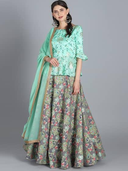 343e70e416d157 Green Lehenga Choli | Buy Green Lehenga Choli online in India