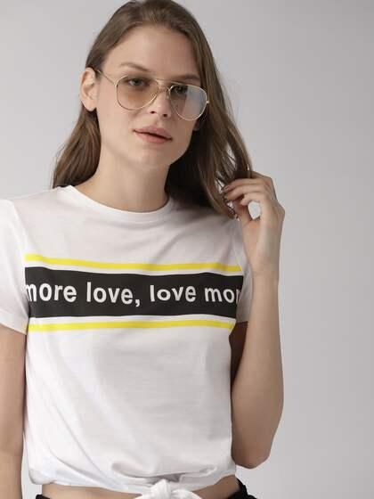 7136ad0aeb27e T-Shirts for Women - Buy Stylish Women's T-Shirts Online   Myntra