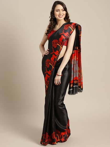 96a800a11c4 Printed Saree - Buy Printed Sarees for Women Online in India | Myntra