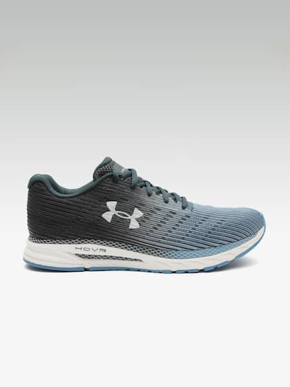 c954b6ac51653 UNDER ARMOUR Men Blue & Black HOVR Velociti 2 Self-Striped Running Shoes