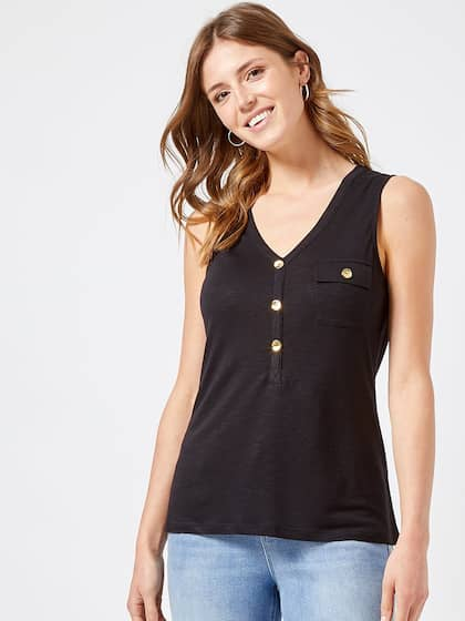 a2e1d0a91c Black Tops - Buy Black Colour Tops Online in India | Myntra