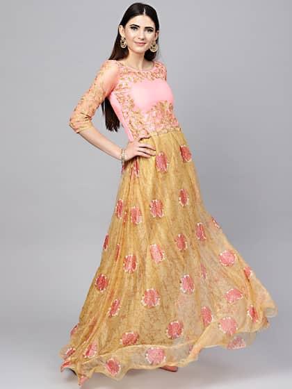 7897efee83 Georgette Gowns - Buy Georgette Gowns Online in India | Myntra