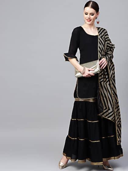 9e2de94c4202f Shararas - Buy Designer Sharara Suits Online | Myntra
