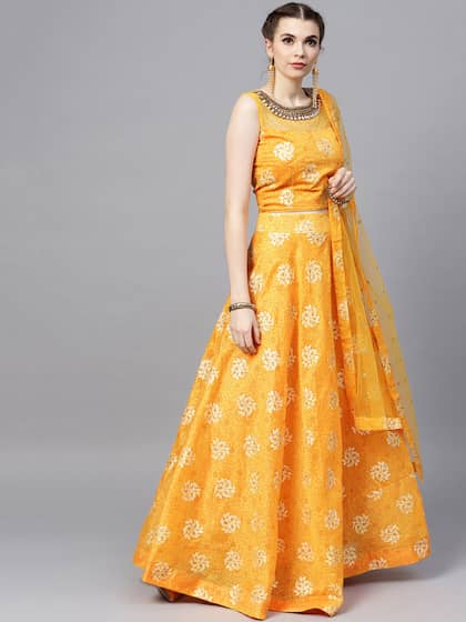 34656eec3b Yellow Lehenga Choli | Buy Yellow Lehenga Choli Online in India