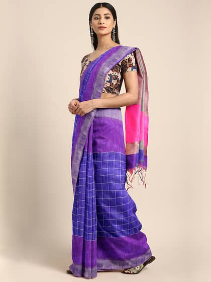 b64947566a Checked Saree - Buy Elegant Checked Sarees Collection Online
