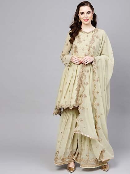 08e0fa3437 Shararas - Buy Designer Sharara Suits Online | Myntra