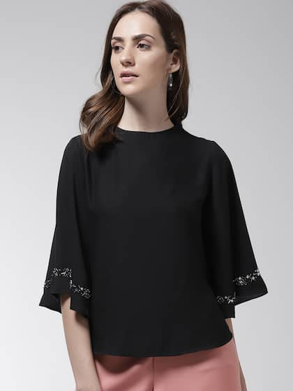 d5729127b0439a Black Tops - Buy Black Colour Tops Online in India | Myntra