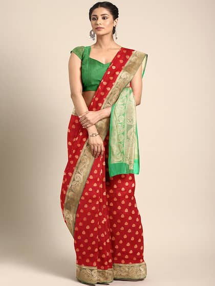 Red Saree - Buy Red Color Fashion Sarees Online | Myntra