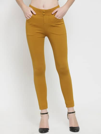 f4e8c263a8f87 Mustard Yellow Jeggings - Buy Mustard Yellow Jeggings online in India