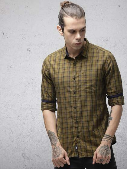 f83b31c1b6d6 Men Check Shirts - Buy Men Check Shirts online in India
