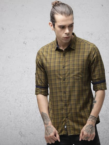9e51970994f4 Men Check Shirts - Buy Men Check Shirts online in India