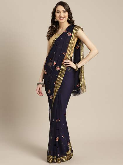 25ef32cae9 Chiffon Saree - Buy Elegant Chiffon Sarees online - Myntra