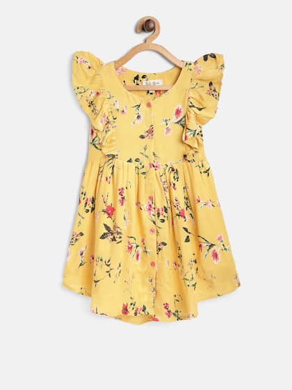 58be2df14a34 Bella Moda. Girls Printed Fit and Flare Dress