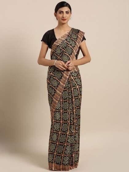 69f4cb75722875 Bandhani Sarees - Buy Handcrafted Traditional Bandhani Saree