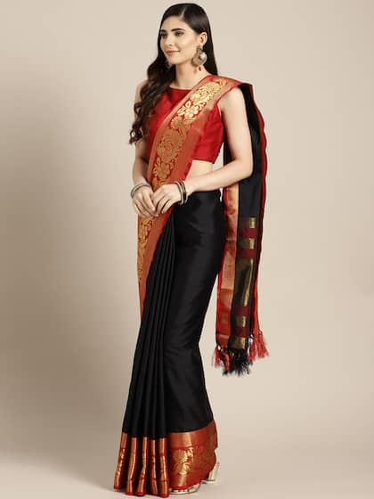 c280e602d5 Black Saree - Black Designer Sarees Online @ Best Price | Myntra