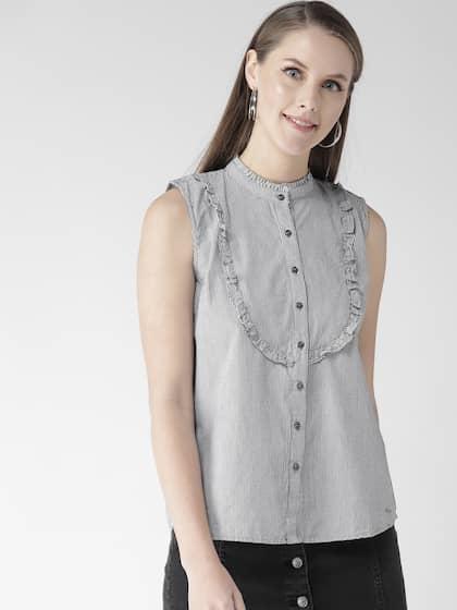 bf45a177fbda Sleeveless Shirts - Buy Sleeveless Shirts Online in India