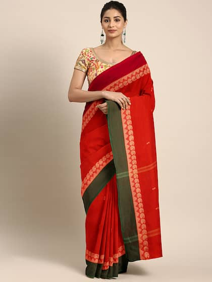 1d488eb850 Red Saree - Buy Red Color Fashion Sarees Online   Myntra
