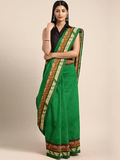 fb6fdeb0a7 Cotton Silk Saree - Buy Cotton Silk Sarees Online | Myntra