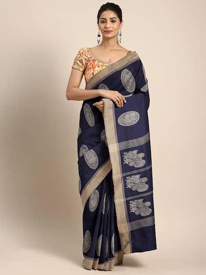 a5f2a2aec2 Blue Saree - Buy Blue Color Women Sarees Online | Myntra
