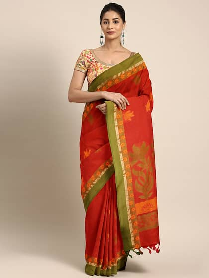 10c6acdb1c8004 Red Saree - Buy Red Color Fashion Sarees Online | Myntra