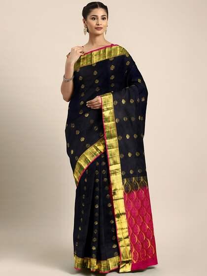 946703f479 Black Saree - Black Designer Sarees Online @ Best Price   Myntra