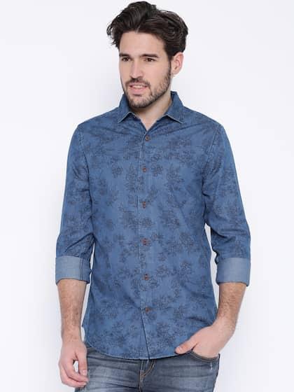 3fa48f0e4a Denim Shirts - Buy Denim Shirts for Men Online in India