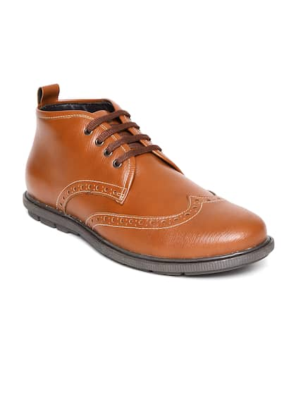 Duke Men Brown Mid-Top Brogues
