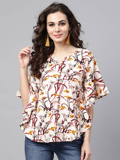 67e581647fdff Cotton Tops - Buy Stylish Cotton Tops Online | Myntra