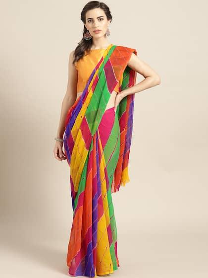 e87f7c35fb Chiffon Saree - Buy Elegant Chiffon Sarees online - Myntra