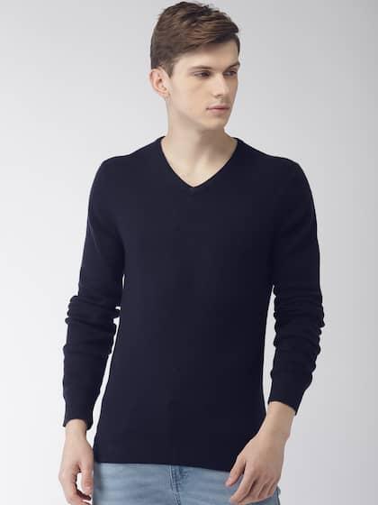 12aea7b9f Sweaters for Men - Buy Mens Sweaters, Woollen Sweaters Online - Myntra
