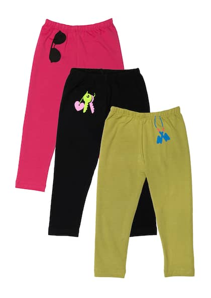 Essentials Girls 3-Pack Capri Legging Bambina