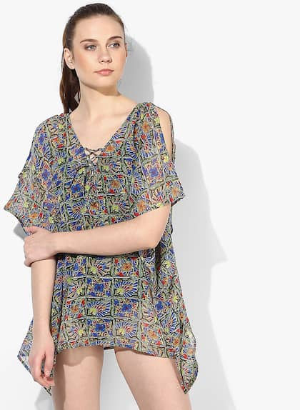 8b4b2279fee1 The Kaaftan Company Printed Multicoloured Cover-Up Dress