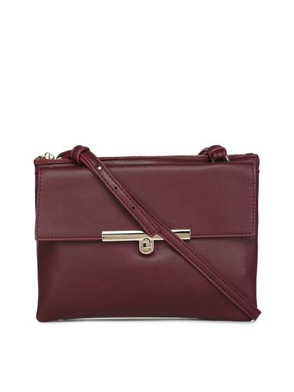Forever New Maroon Solid Sling Bag