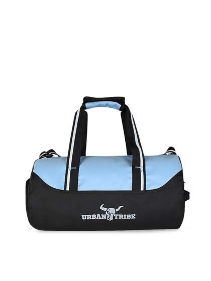 0901099dc5 URBAN TRIBE Navy Blue   Black Colourblocked Bolt Gym Duffel Bag