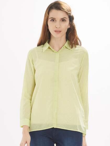 Women Lime Green Shirts Buy Women Lime Green Shirts Online In India