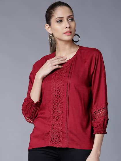 331c2c13311c96 Lace Tops - Buy Lace Tops for Women   Girls Online in India
