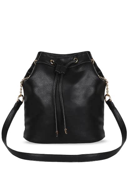 333f2571e682d Black Pu Sling Bags - Buy Black Pu Sling Bags online in India