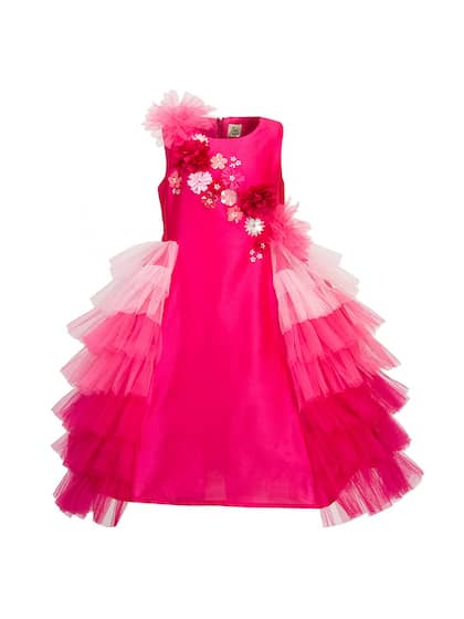 c86ba3ac487 A Little Fable. Girls Self Design Fit and Flare Dress