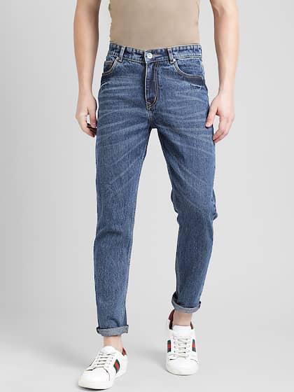 REALM Men Blue Slim Fit Mid-Rise Clean Look Jeans