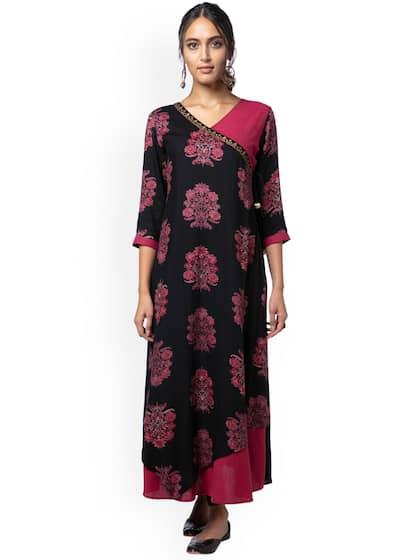 Angrakha Kurtas - Buy Angrakha Kurtas online in India 764ac62e2